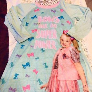 5/$25 Jojo Siwa bows nightgown size medium 7 8